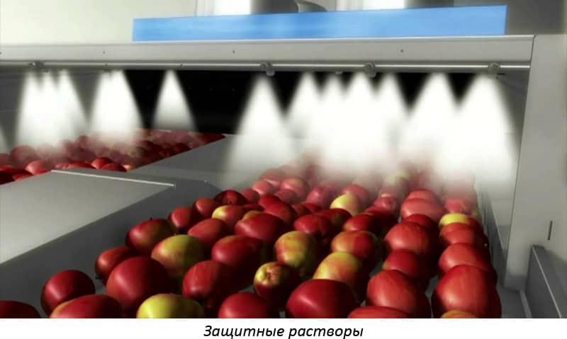 Чем обрабатывают яблоки в супермаркете